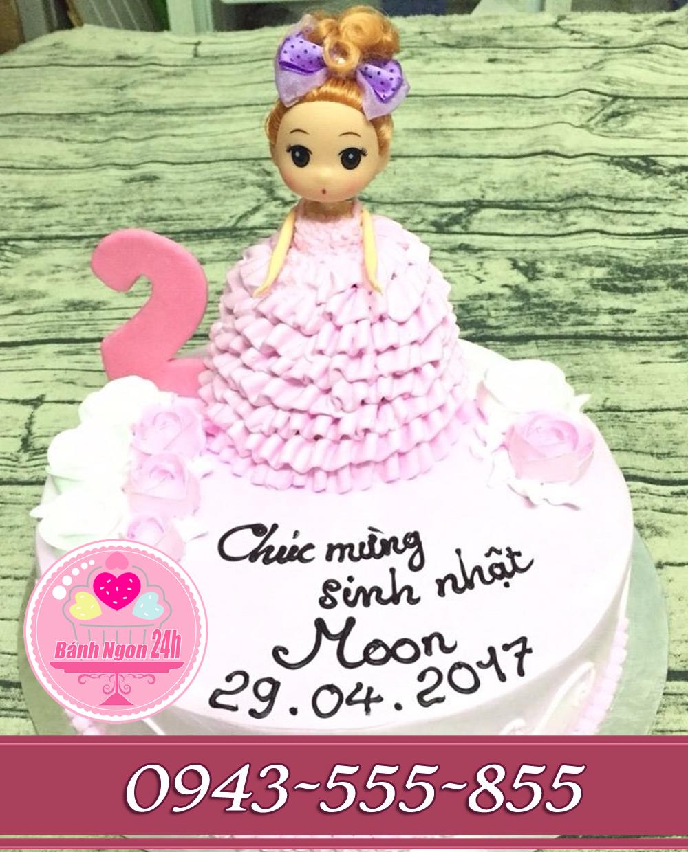 Bánh kem 3D tặng bé gái tông hồng