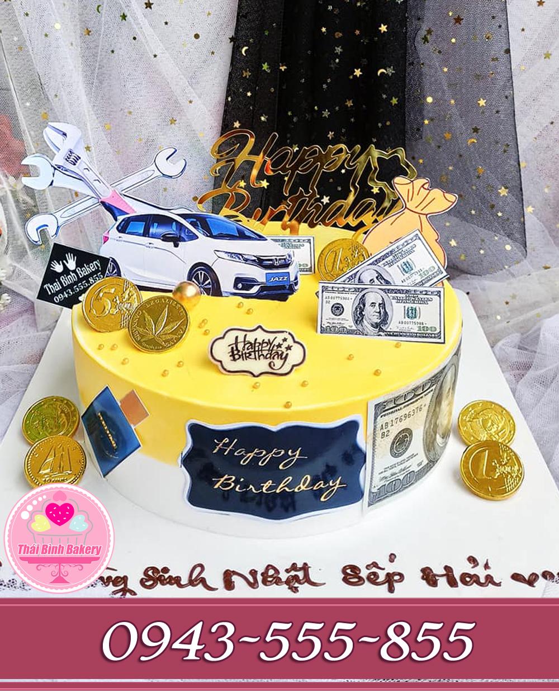 bánh kem tặng sếp hình ô tô