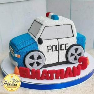 Bánh kem tạo hình ô tô cảnh sát 3D