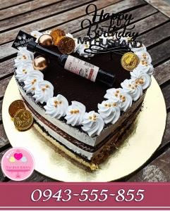bánh kem hình tim mãn mạn tặng sinh nhật ck yêu