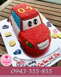 bánh kem ô tô tặng bé trai sinh nhật lần thứ 4