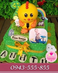 bánh kem 3d tuổi gà tặng sinh nhật bé zai