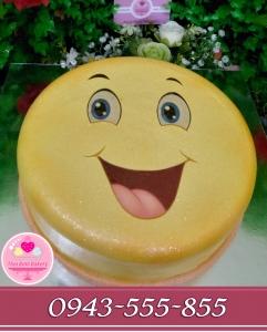 Bánh kem mặt cười đáng yêu năm 2018