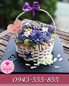 bánh giỏ hoa tặng vợ, tặng mẹ