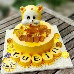 Bánh kem 3d chuột vàng tặng con yêu