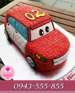 Bánh ô tô 3d tông đỏ tặng con zai iu 2 tuổi
