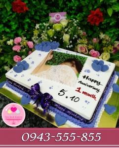 Bánh sinh nhật kỷ niệm 1 tháng yêu nhau