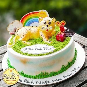 Bánh kem hổ 3D dành tặng con yêu