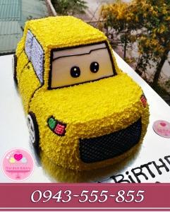 Bánh kem 3d ô tô vàng tặng con trai yêu