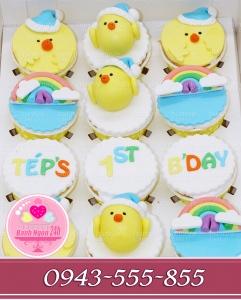 Sét cucpcake tặng bé sinh năm con gà
